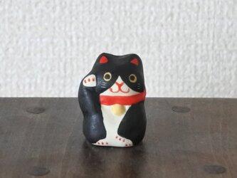 ミニ招き猫(ハチワレ-右)の画像