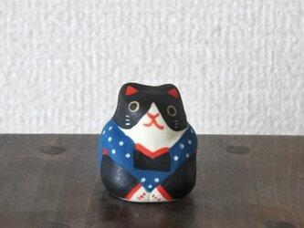 ミニ福猫 ハチワレ青の画像