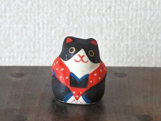 ミニ福猫 ハチワレ赤の画像