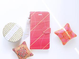 手帳型スマホケース|ネオンピンクの画像