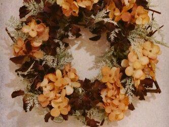 アーティフィシャルの秋色リースの画像