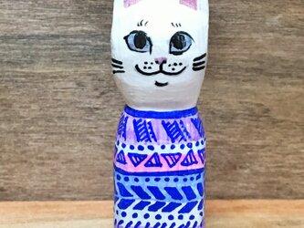 木彫り猫 総柄の画像