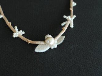 白小花シリーズ⁂オフホワイト の画像