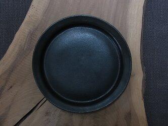 漆黒丸リム皿 Lの画像