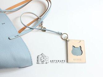 猫のパスケース・Gattina Pass サックスブルーの画像