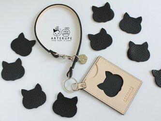 猫のパスケース・Gattina Pass ブラックの画像