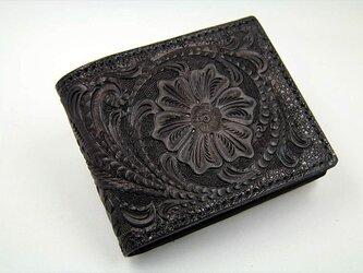 ビルフォード(カード財布)カービング・フルブラックの画像