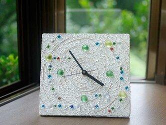 ビー玉の置き時計、掛け時計-7の画像