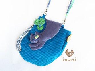 お散歩猫さんミニバッグ☆ぐれーさんの画像
