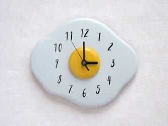 ムーンエッグ壁掛け時計の画像