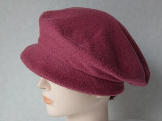魅せる帽子☆小さめ♪ベレー風クロッシュ~ローズの画像