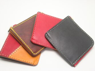 ♪オーダーメイド レザー コンパクト 財布 小さい財布 L字ファスナーウォレット♪の画像