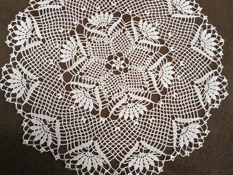 手編みレースドイリー直径約40㎝の画像