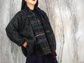 手織り ショールコートドルマンスリーブの画像