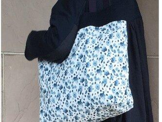 コンパクト おかいのもかばん  小花 紺の画像