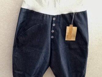 薄手デニムのヨーヨーパンツ六分丈7号の画像