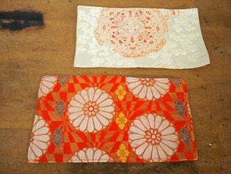 昭和レトロな帯の敷物 マット 2セットの画像