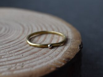 """真鍮の指輪 """"ひと粒""""の画像"""