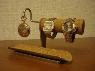 アクセサリースタンド 腕時計、懐中時計ロングトレイスタンド の画像