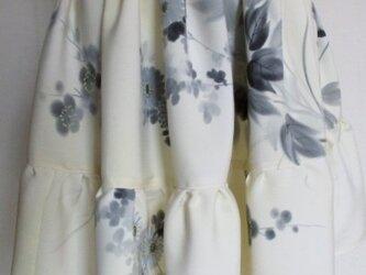 送料無料 花柄の着物で作ったミニスカート 3764の画像