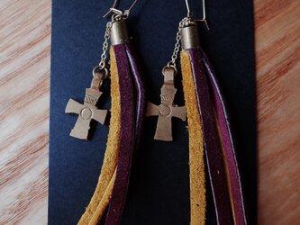 エチオピアピアス -shooting stars- yellow&purpleの画像