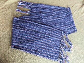 手織り コットンマフラー A0303bの画像