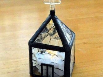 ステンドグラス教会 キャンドルカバー(小) 透明 No,2444の画像
