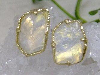 ゴールデンムーン原石*K18pierceの画像