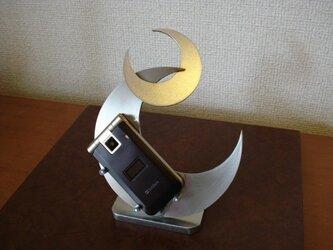 プレゼントに ダブルクロスムーン携帯電話スタンドの画像