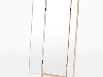 和装チェック用の三面鏡  Full Length Dressing Mirrorの画像