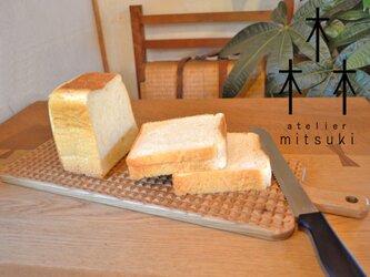 ナラ×格子のカッティングボード (Lサイズ) cutting board - 格子 - 0050 a 楢 (オーク)の画像