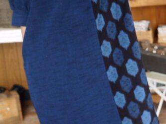新反2種久留米絣のハイネックワンピースの画像