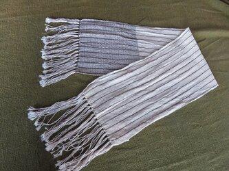 オールシーズン 手織りマフラー ショート A0821aの画像
