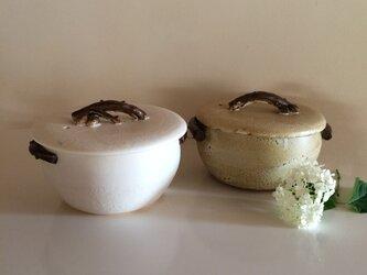 どんぐり土鍋クリーム 耐熱の画像