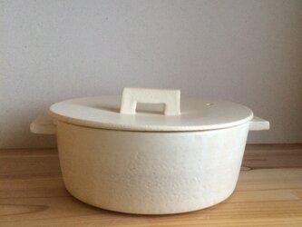 土鍋M 白 耐熱の画像