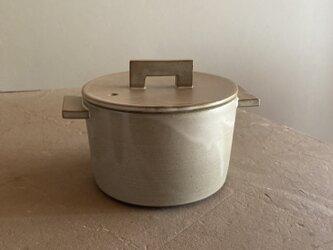 耐熱 小鍋 モカ(ブラウンベージュ)の画像