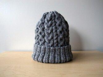 アランニット帽・グレー●受注生産●の画像