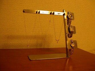 アクセサリースタンド ネックレス&腕時計ディスプレイスタンド  ステンレスの画像