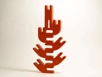 スムース・レッド / 積み木人形の画像