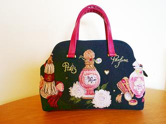 ゴブランハンドバッグ-香水/赤(受注製作)の画像