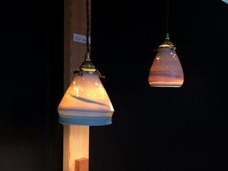 ランプシェード 波 ペンダントの画像