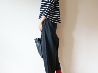 Cotton typewriter balloon pants LADY'S size BLACKの画像