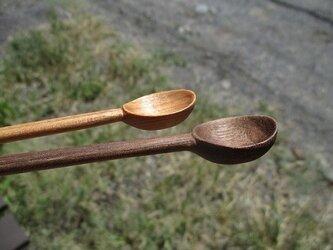 木製スプーン 豆匙 12cm ウォルナットの画像