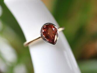 マラヤガーネット指輪の画像