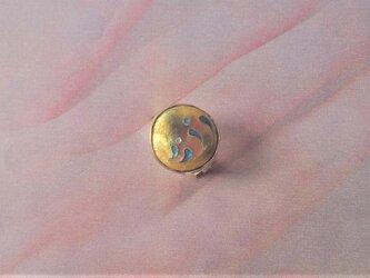 水飛沫有線七宝真鍮指輪の画像