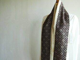 2色遣いの大島紬スカーフの画像