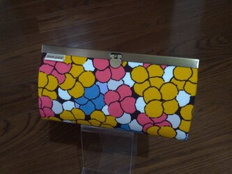 長財布(花花 yellow)の画像