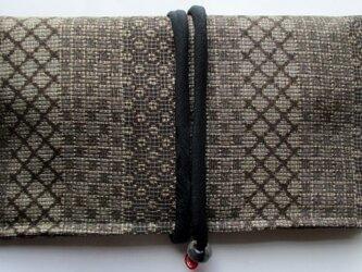 送料無料 大島紬で作った和風財布・ポーチ 3772の画像