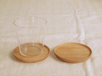 2枚セット 木製コースター 栃材2 丸型の画像
