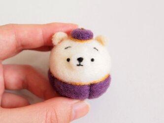 【受注製作】まゆ白柴犬のハロウィンコスプレ 羊毛フェルト(アクレーヌ)の画像